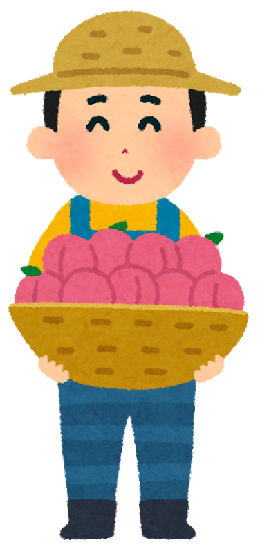 桃農家の人